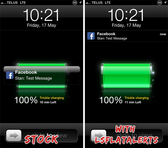 LSFlatAlerts Cydia Tweak