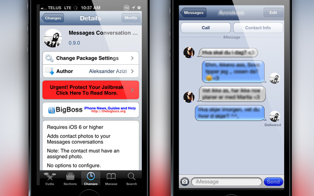 Messages Conversation Photos Cydia Tweak