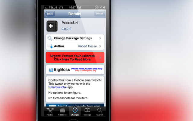 PebbleSiri-Cydia-Tweak