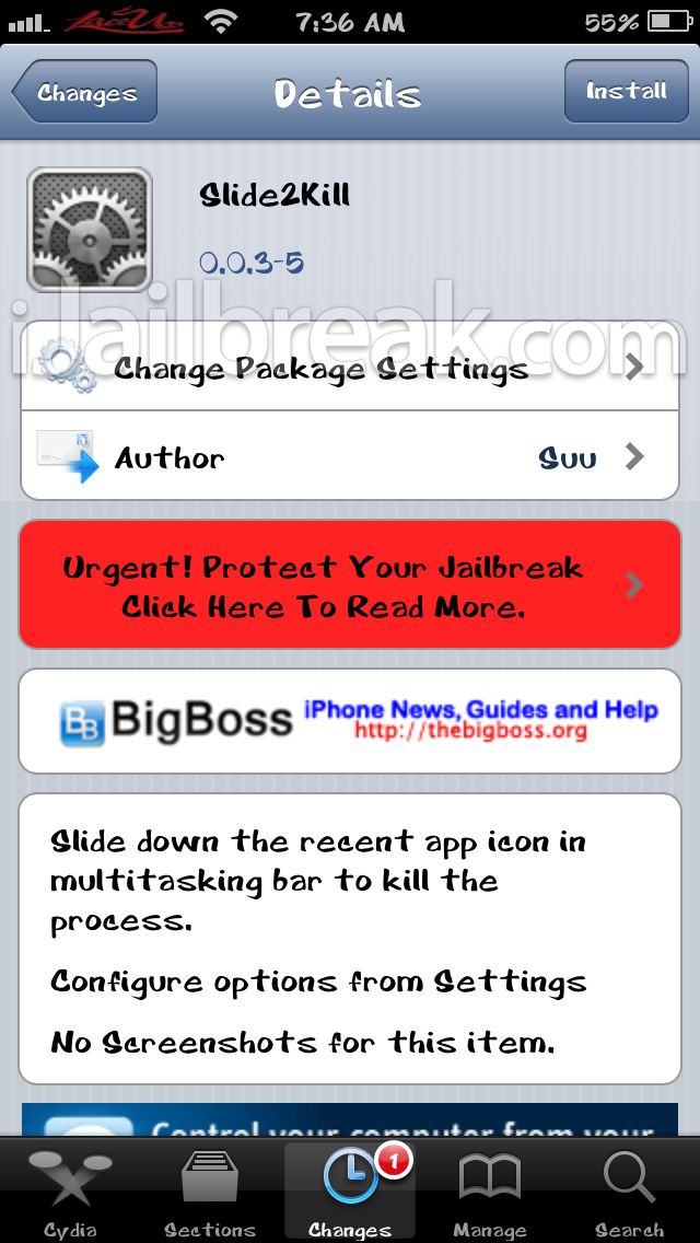Slide2Kill Cydia Tweak iJailbreak