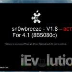 Sn0wBreeze v1.8 Released. Jailbreaks iOS 4.1 Beta