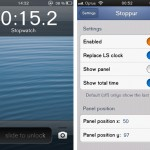 Stoppur Cydia Tweak Adds The Stopwatch To The iOS Lockscreen