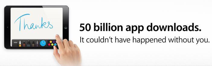 App Store 50 Billion App Downloads