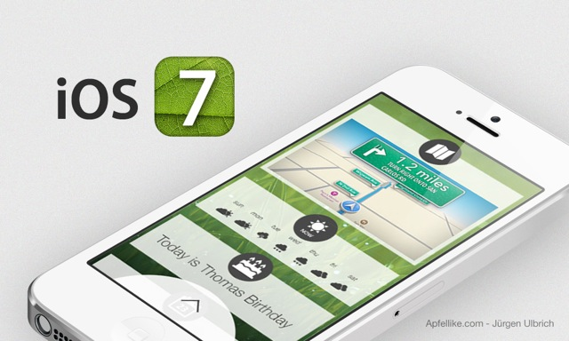 iOS 7 Concept Showcasing A Google Now Like Lockscreen