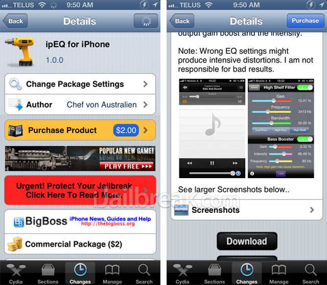 ipEQ For iPhone Cydia Tweak