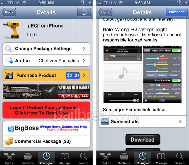 ipEQ For iPhone Cydia Tweak