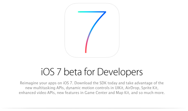 iOS 7 Beta for Developers