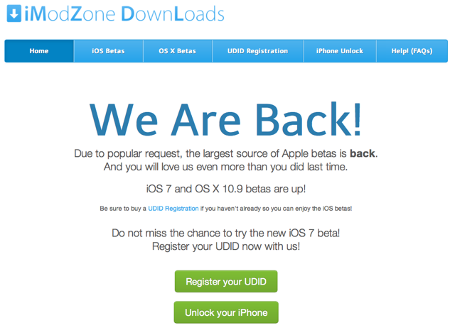 iOS 7 beta UDID Register