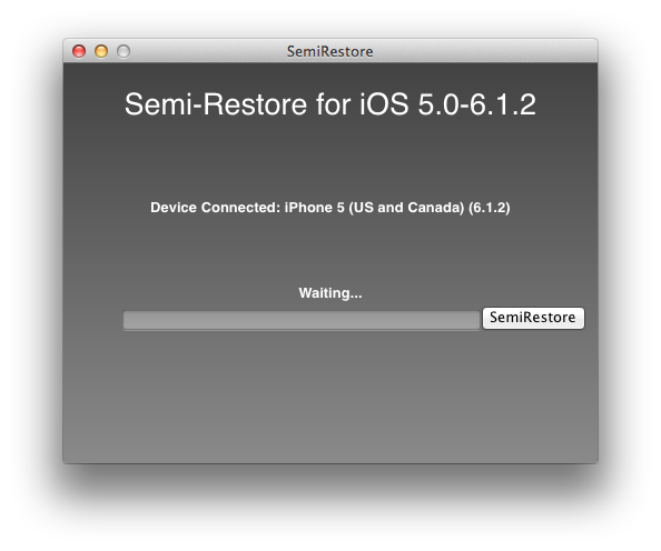 How To: Re-Restore Your iPhone, iPod Touch Or iPad Back To iOS 5.0 To 6.1.2 Using Semi-Restore [VIDEO] Step 2