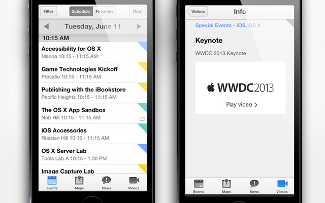 Apple Releases The Official WWDC 2013 App With Video ...