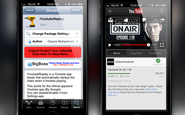 iYouTubeReplay Cydia Tweak iJailbreak