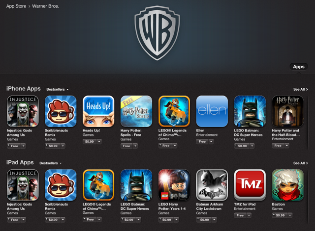 Warner Bros Currently Having A Summer 2013 App Store Sale