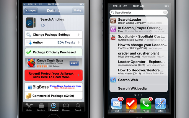 SearchAmplius Cydia Tweak iJailbreak