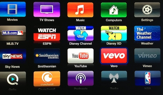 New Apple TV Update Brings New Apps That Include Vevo And Disney