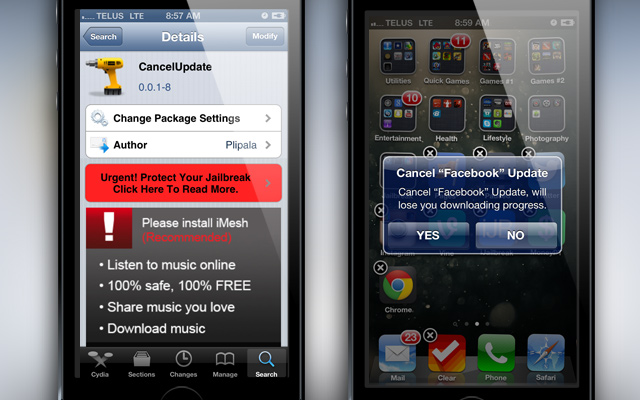 CancelUpdate Cydia Tweak