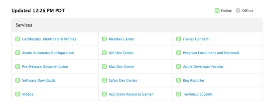 Dev Center Now Fully Online