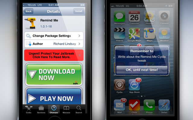 Remind-Me-Cydia-Tweak
