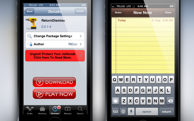 ReturnDismiss-Cydia-Tweak