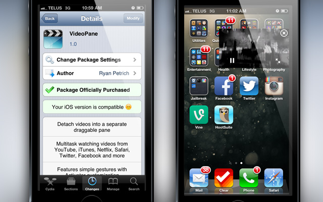 VideoPane-Cydia-Tweak