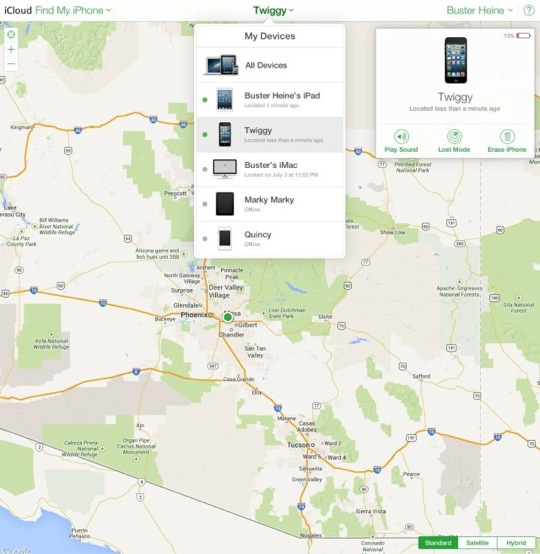 iCloud Redesign Find My iPhone