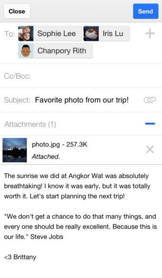 Gmail 2.4 iOS App