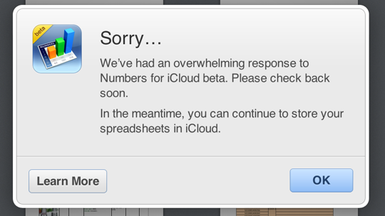iWork for iCloud restrictions