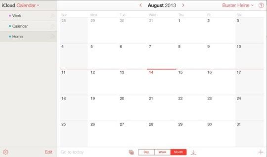 iCloud Redesign Calendar