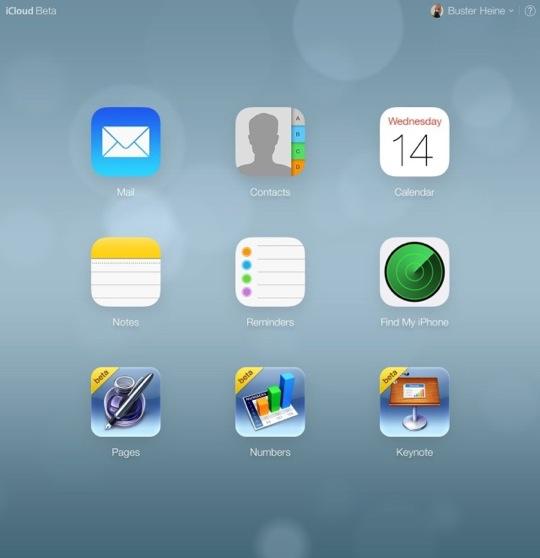 iCloud Redesign Homescreen
