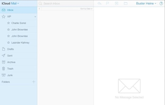 iCloud Redesign Mail