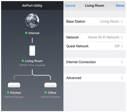 AirPort Utility iOS 7