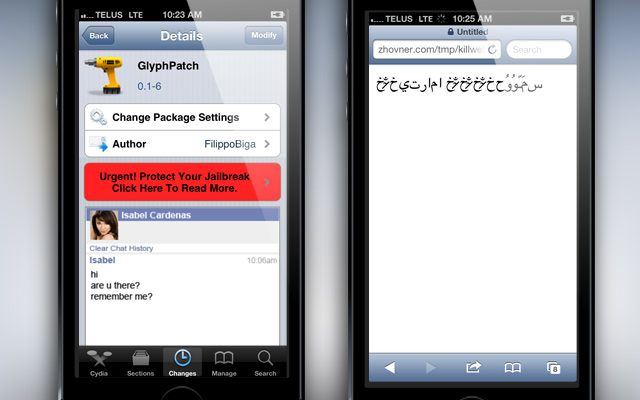 GlyphPatch Cydia Tweak
