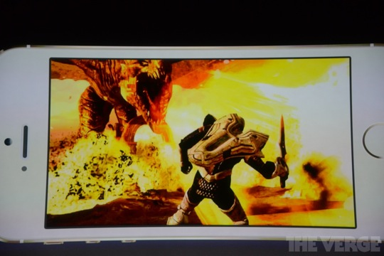 Infinity Blade III on iPhone 5S