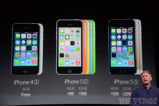 iPhone 4S vs iPhone 5C vs iPhone 5S