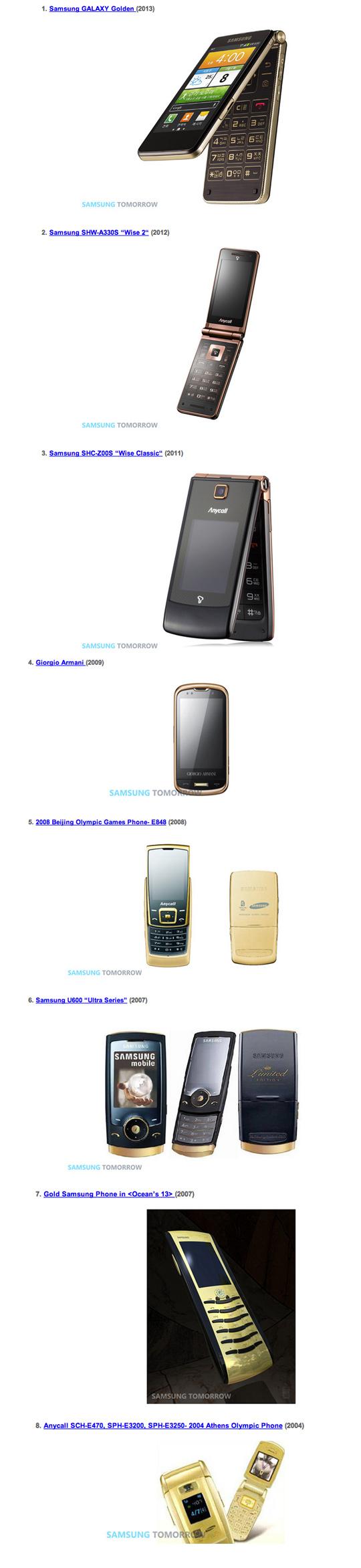 SamsungGoldPhones