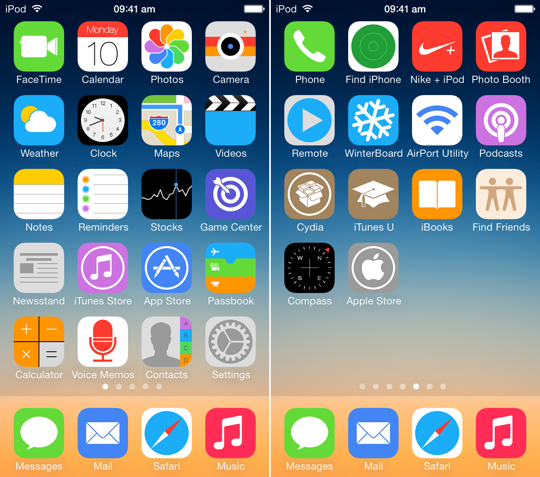 UltraFlat iOS 7 Theme