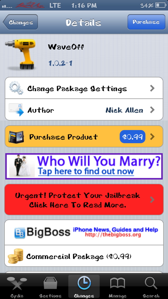 WaveOff Cydia Tweak iJailbreak