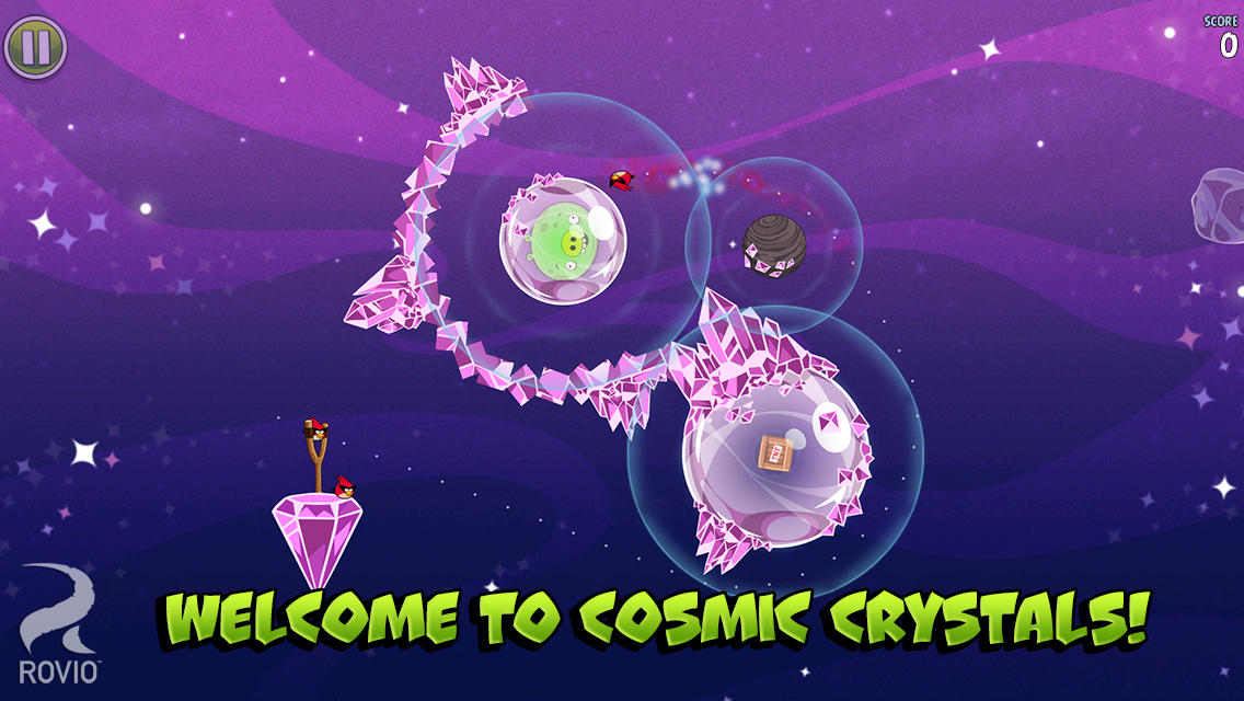 Angry Birds Space Cosmic Crystals iOS