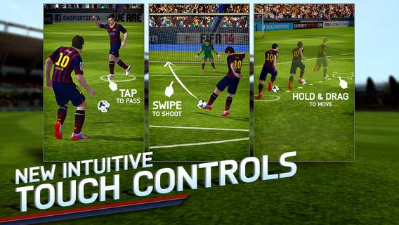 FIFA 14 iOS App Controls
