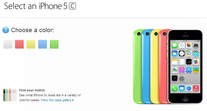 iPhone 5c Pre-Order Goes Live