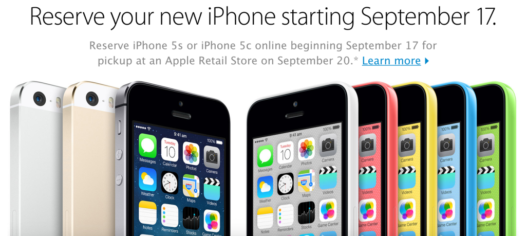 Pre-order iPhone 5s On September 17th