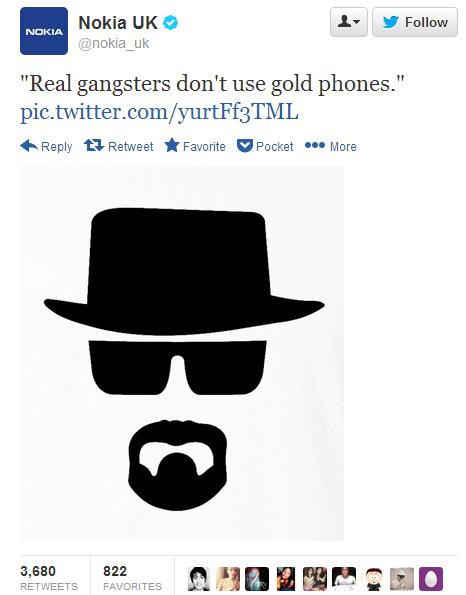 Nokia UK iPhone 5S Gold