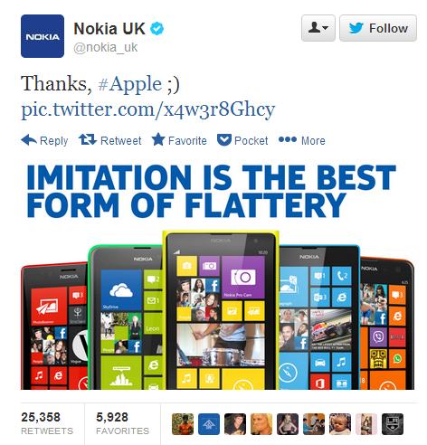 Nokia UK Lumia vs iPhone 5c colors