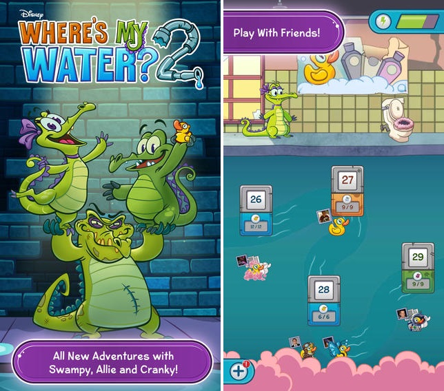 Where's My Water? 2 For iOS Screenshots