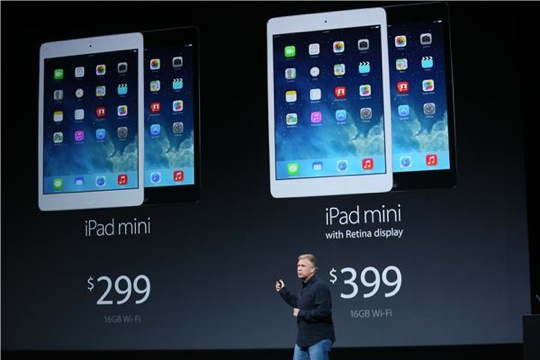 iPad Mini 2 with Retina display pricing