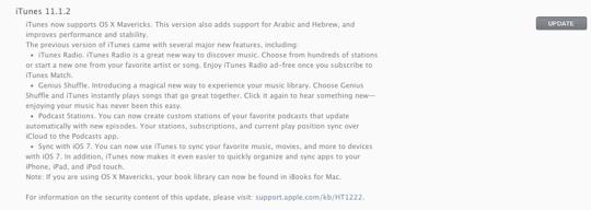 iTunes 11.1.2 Download