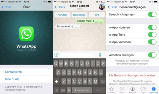 WhatsApp for iOS 7 leaked