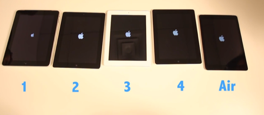 iPad 1 vs iPad 2 vs iPad 3 vs iPad 4 vs iPad Air