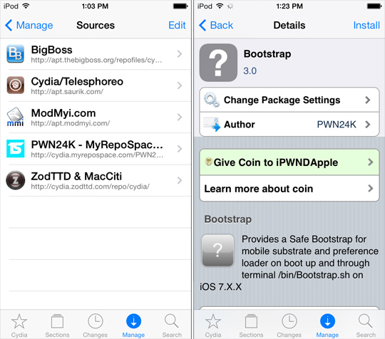 BootStrap-Cydia-Tweak