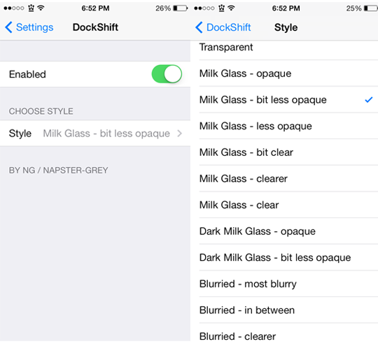 DockShift Cydia Tweak Settings-ijailbreak