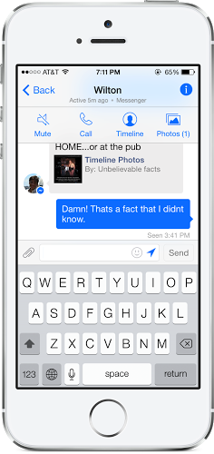 Facebook Messenger 3.1 iOS App